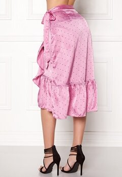 VERO MODA Henna Satin Wrap Skirt Opera Mauve Bubbleroom.no