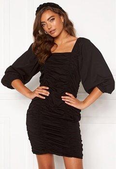 VERO MODA Henny 3/4 Rouching Dress Black Bubbleroom.no