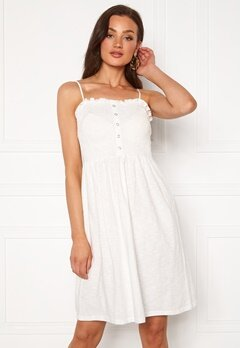VERO MODA Hey S/L Abk Dress Snow White Bubbleroom.no