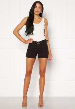 VERO MODA Hot Seven NW Dnm Fold Shorts Mix Black Bubbleroom.no