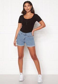 VERO MODA Hot Seven NW Dnm Fold Shorts Mix Light Blue Denim Bubbleroom.no