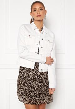 VERO MODA Hot Soya LS Denim Jacket Bright White Bubbleroom.no