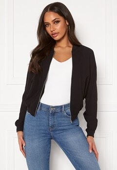 VERO MODA Isabel L/S Bomber Jacket Black Bubbleroom.no