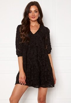 VERO MODA Laura 3/4 V-Neck Dress Black Bubbleroom.no