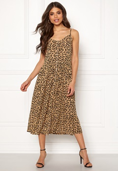VERO MODA Lea S/L Midi Dress Tigers Eye Bubbleroom.no