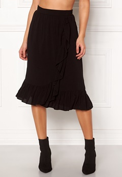 VERO MODA Leo N/W Wrap Skirt Black Bubbleroom.no