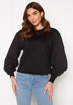 VERO MODA Lilils Sweat Black Bubbleroom.no