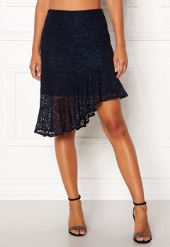 VERO MODA Lizz HW BLK Skirt Night Sky Bubbleroom.no