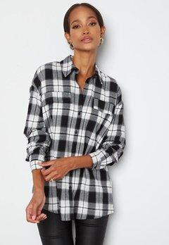 VERO MODA Luna LS Shirt Black Checks bubbleroom.no