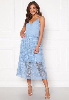 VERO MODA Madeleine Calf Lace Dress Placid Blue Bubbleroom.no