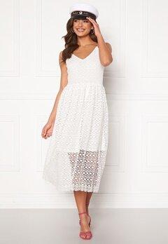 VERO MODA Madeleine Calf Lace Dress Snow White Bubbleroom.no