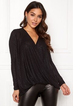 VERO MODA Mandy LS Wrap Top Boo Black Bubbleroom.no