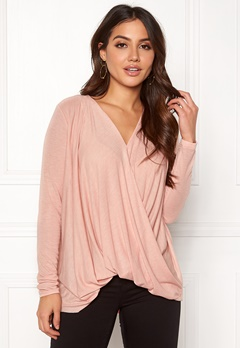 VERO MODA Mandy LS Wrap Top Boo Misty Rose Bubbleroom.no