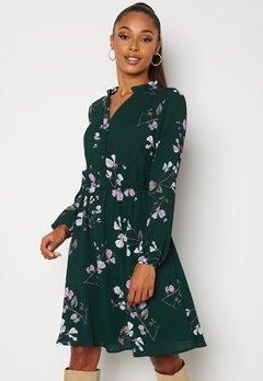 VERO MODA Maya V-Neck LS Dress Ponderosa Pine Bubbleroom.no