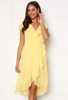 VERO MODA Maya Wrap Frill Dress Banana Cream Bubbleroom.no