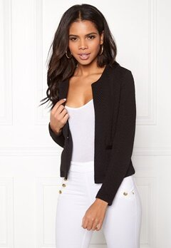 VERO MODA Mia Structure Short Blazer Black Bubbleroom.no