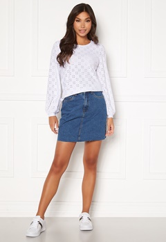 VERO MODA Mikky Raw Denim Skirt Medium Blue Denim Bubbleroom.no