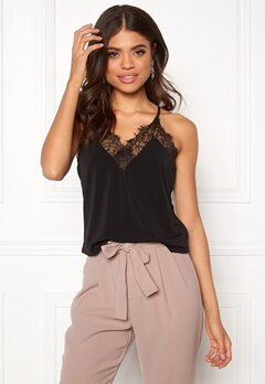 VERO MODA Milla S L Lace Top Black Bubbleroom.no 03470fa8c477f