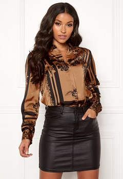 VERO MODA Mimi ls Shirt Tobacco Brown Bubbleroom.no