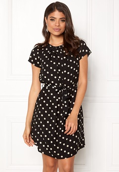 VERO MODA Nelli S/Short Dress Black White dots Bubbleroom.no