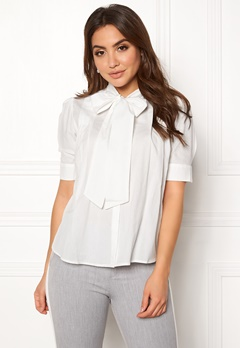 VERO MODA Nicole 2/4 Tie Shirt Snow White Bubbleroom.no