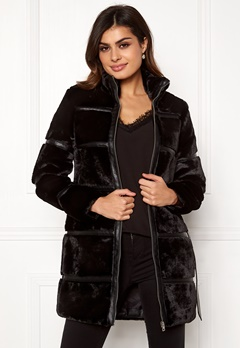VERO MODA Ninja 3/4 Faux Fur Jacket Black Bubbleroom.no