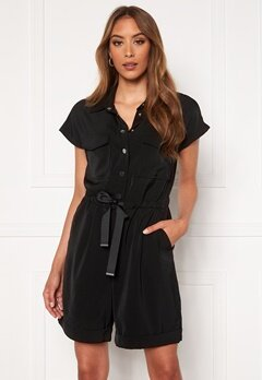 VERO MODA Paula SS Playsuit Black Bubbleroom.no