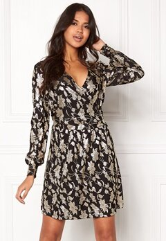 VERO MODA Romeo LS Wrap Short Dress Black Bubbleroom.no