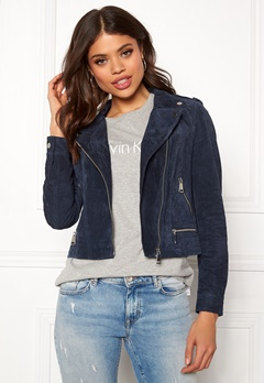 VERO MODA Royce Short Suede Jacket Navy Blazer Bubbleroom.no
