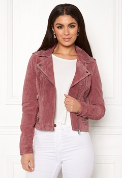 VERO MODA Royce Short Suede Jacket Old Rose Bubbleroom.no