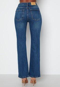 VERO MODA Saga HR S Flared Jeans Dark Blue Denim bubbleroom.no