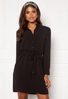VERO MODA Saga LS Collar Shirt Dress Black Bubbleroom.no