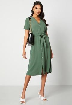 VERO MODA Saga SS Calf Shirt Dress Laurel Wreath Bubbleroom.no
