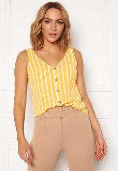 VERO MODA Sasha S/L Button Top AOP Banana Cream Bubbleroom.no