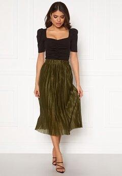 VERO MODA Seline Plisse Skirt Military Olive Bubbleroom.no