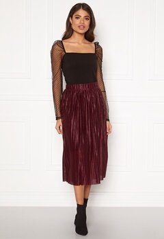 VERO MODA Seline Plisse Skirt Port Royale Bubbleroom.no