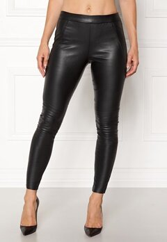 VERO MODA Sevena Legg PU Stretch Black Bubbleroom.no