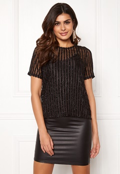 VERO MODA Shane SS Top Black Bubbleroom.no