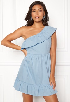 VERO MODA Sia One Shoulder Dress Cerulean Bubbleroom.no