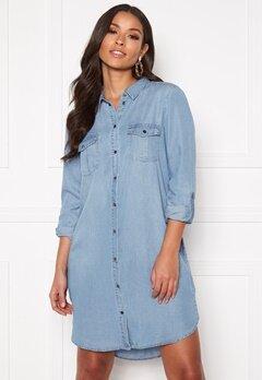 VERO MODA Silla LS Short Dress Light Blue Denim Bubbleroom.no