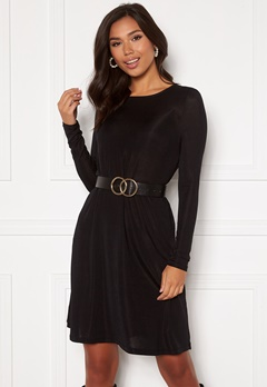 VERO MODA Sparkle L/S Dress Black lurex Bubbleroom.no