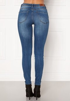 VERO MODA Tanya Piping Raw Jeans Medium Blue Denim Bubbleroom.no