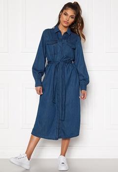 VERO MODA Teagan LS Denim Dress Medium Blue Denim Bubbleroom.no