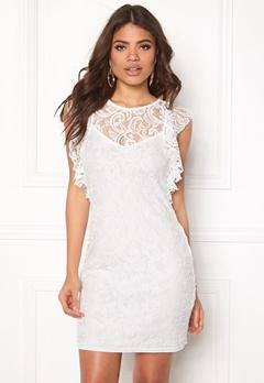 VERO MODA Thea Short Lace Dress Snow White Bubbleroom.no