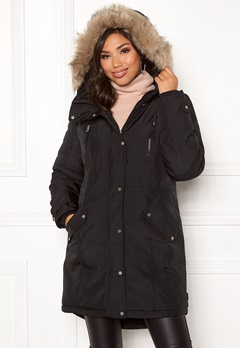 VERO MODA Track Expedtion Parka Black Bubbleroom.no