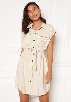 VERO MODA Venus Wide Shirt Dress Birch Bubbleroom.no