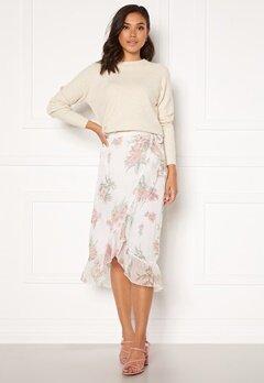 VERO MODA Wonda H/W Wrap Skirt Birch AOP Ophelia Ro Bubbleroom.no