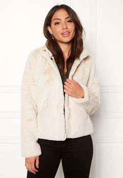 ONLY Vida Faux Fur Jacket Pumice Stone Bubbleroom.no