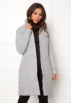 VILA Alanis Coat Light Grey Melange Bubbleroom.no