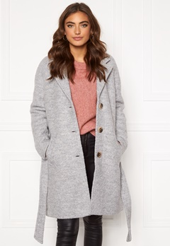 VILA Alanis Trenchcoat Light Grey Melange Bubbleroom.no